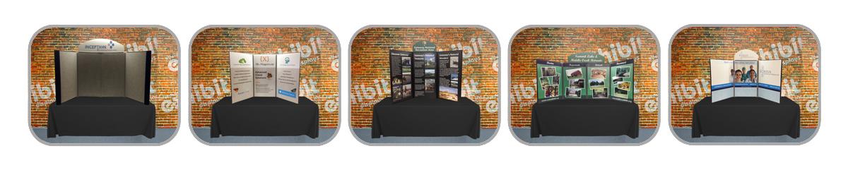 3 Panel, 4 Panel, Promoter Panel Table Top Displays