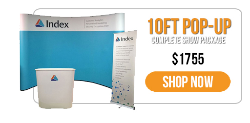 Trade Show Displays - Everyday Savings - 10ft Pop-Up Display & Banner Stand Show Package