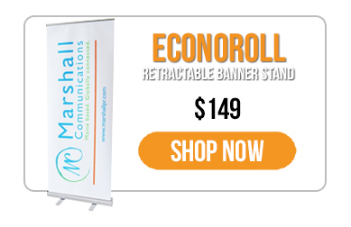 Trade Show Displays - Everyday Savings - Retractable Banner Stand