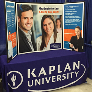 Kaplan University table top display