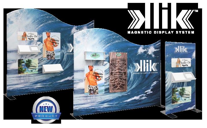 KLIK Magnetic Tension Fabric Display System