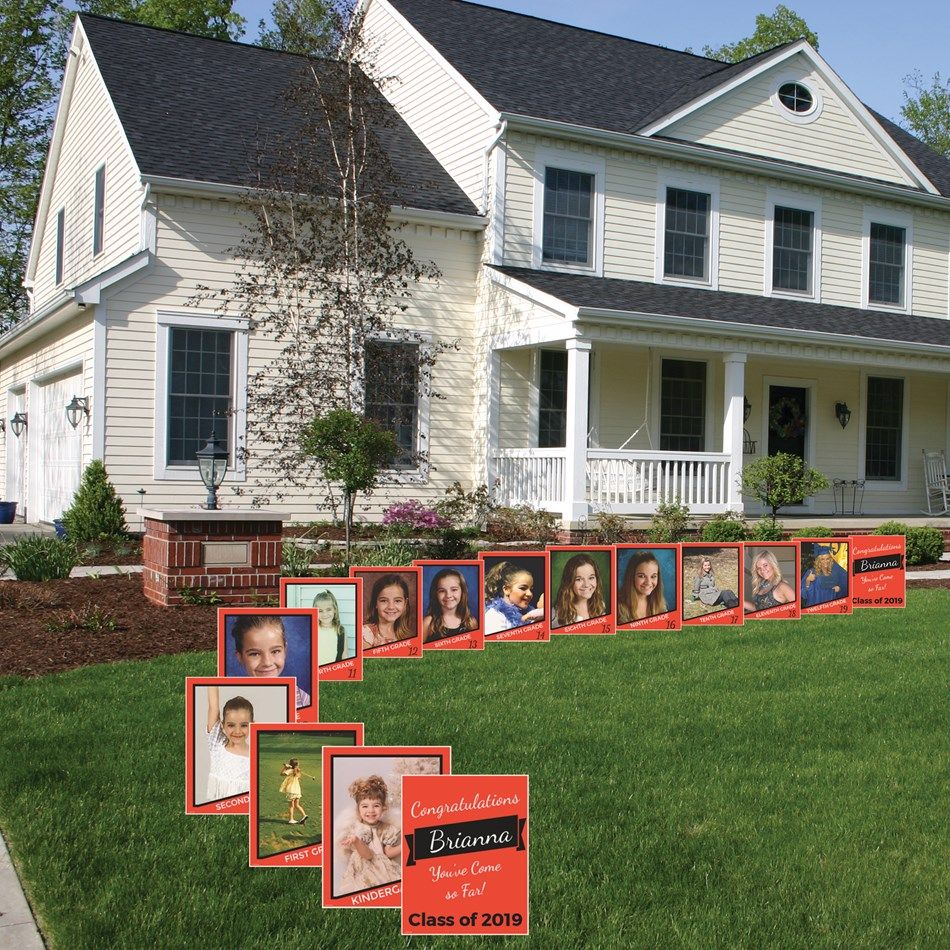 Graduation signs - ground stake yard signs