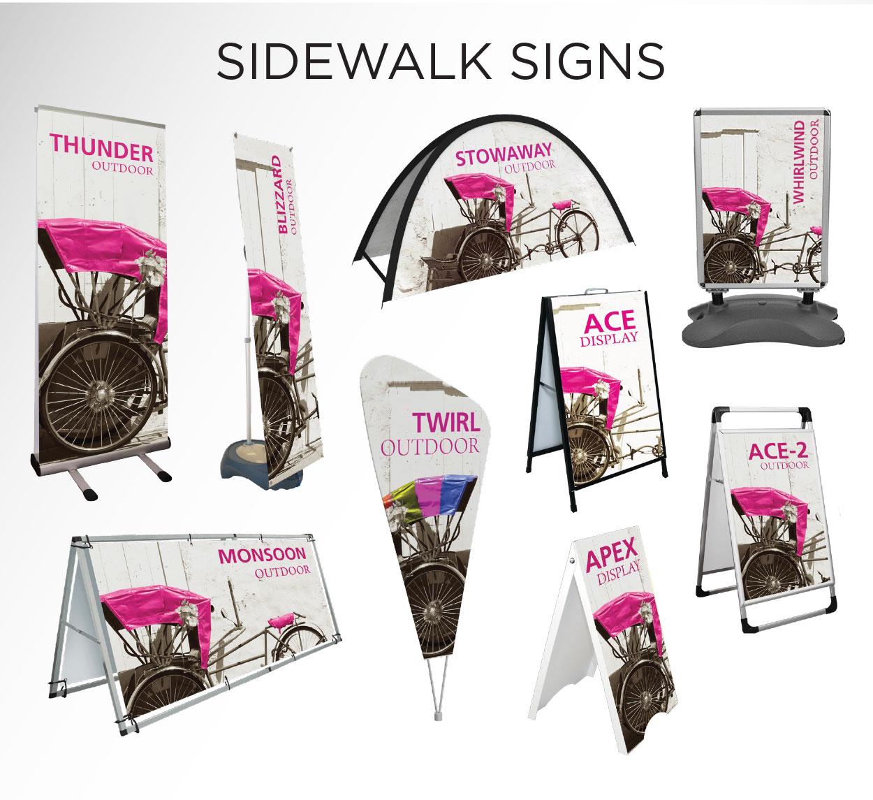 Sidewalk Signs - COVID-19 Signage