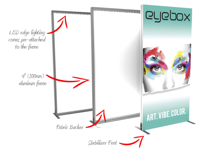 Vector Frame light boxes - simple set-up