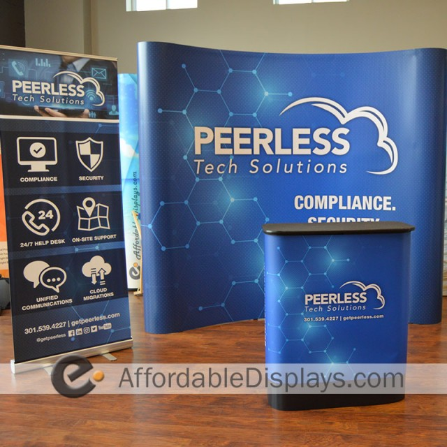 8ft Pop Up Display Trade Show Kit - Peerless Tech Solutions