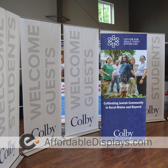 Pull Up Retractable Banner Stands - Colby College