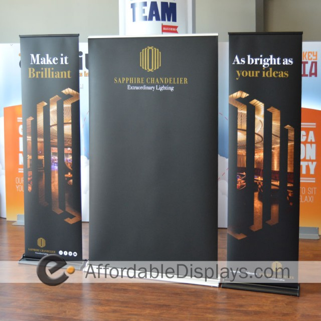 Pull Up Banner, Retractable Banner Stands - Sapphire Chandelier