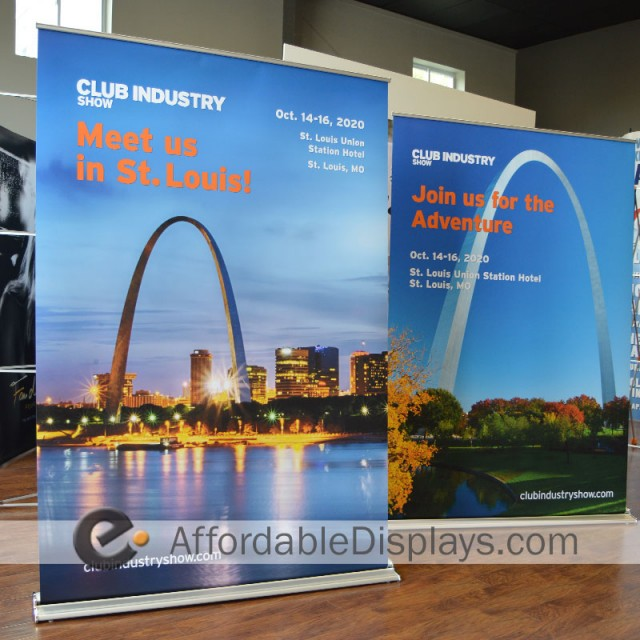 Pull Up Banner Stands - Club Industry Show